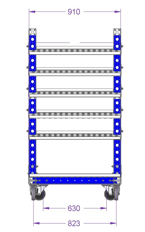 Removable Flow Shelf Cart – 910 x 560 mm