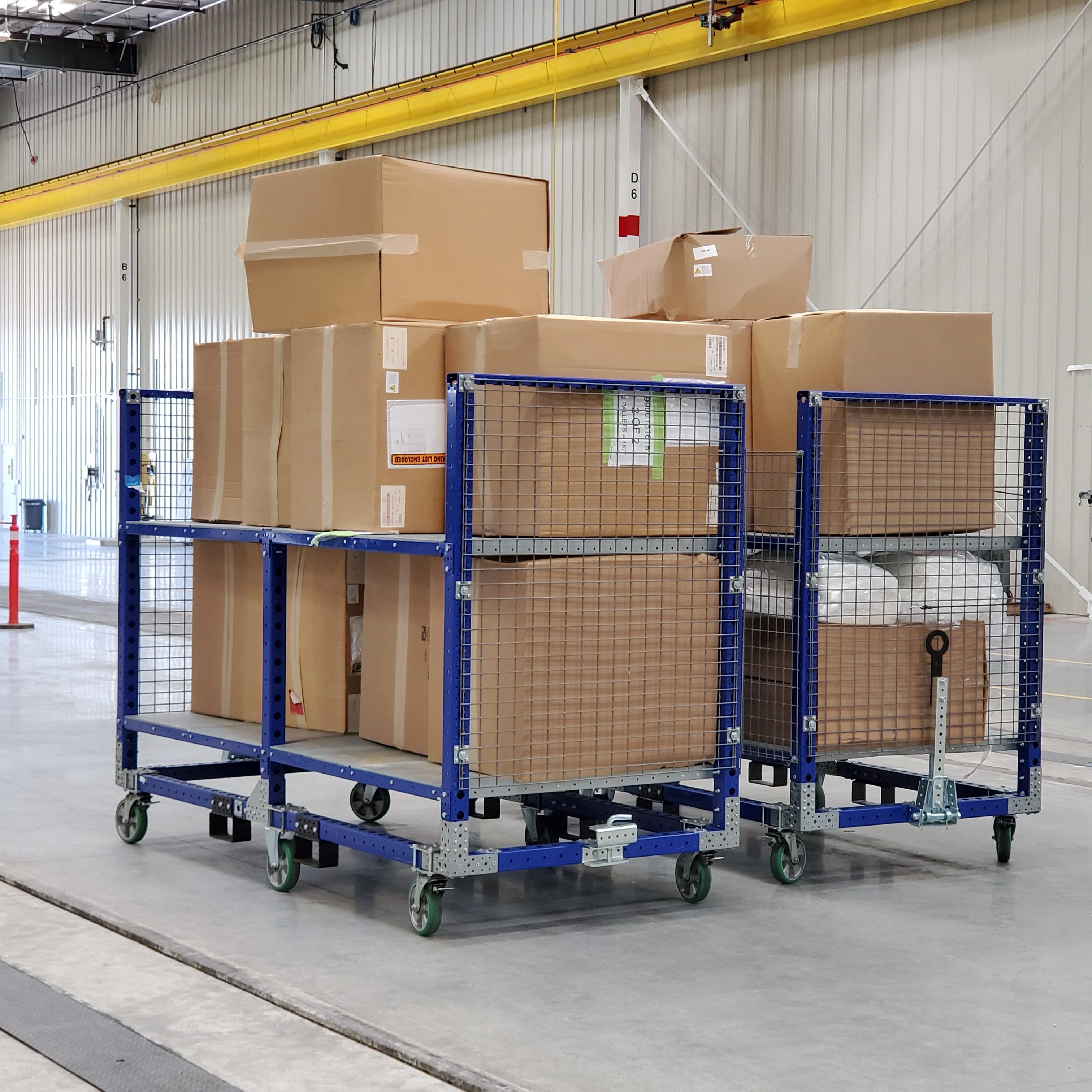 All FlexQube carts being used by Siemens!