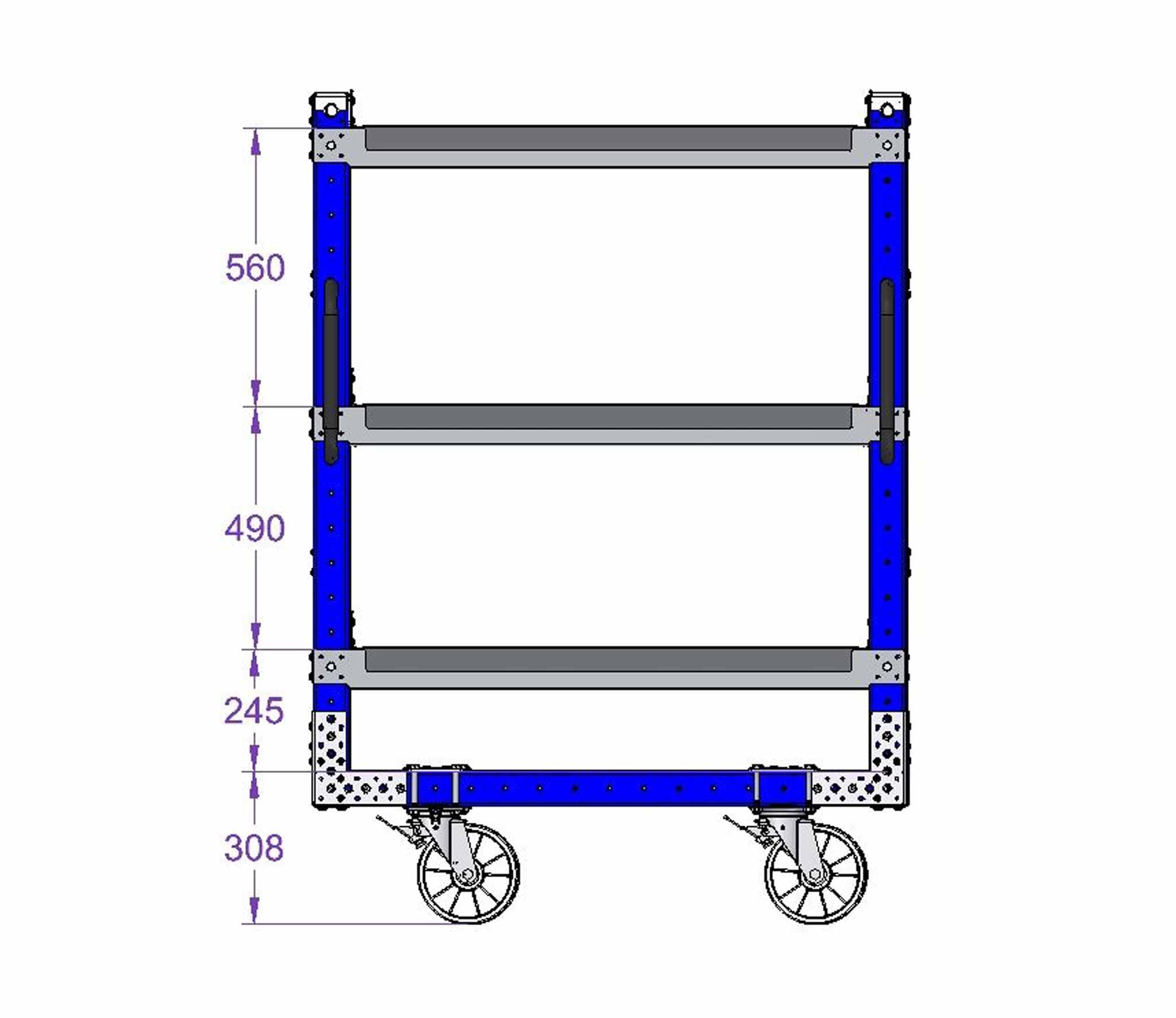 Flow Shelf Push Cart - 770 x 1190 mm