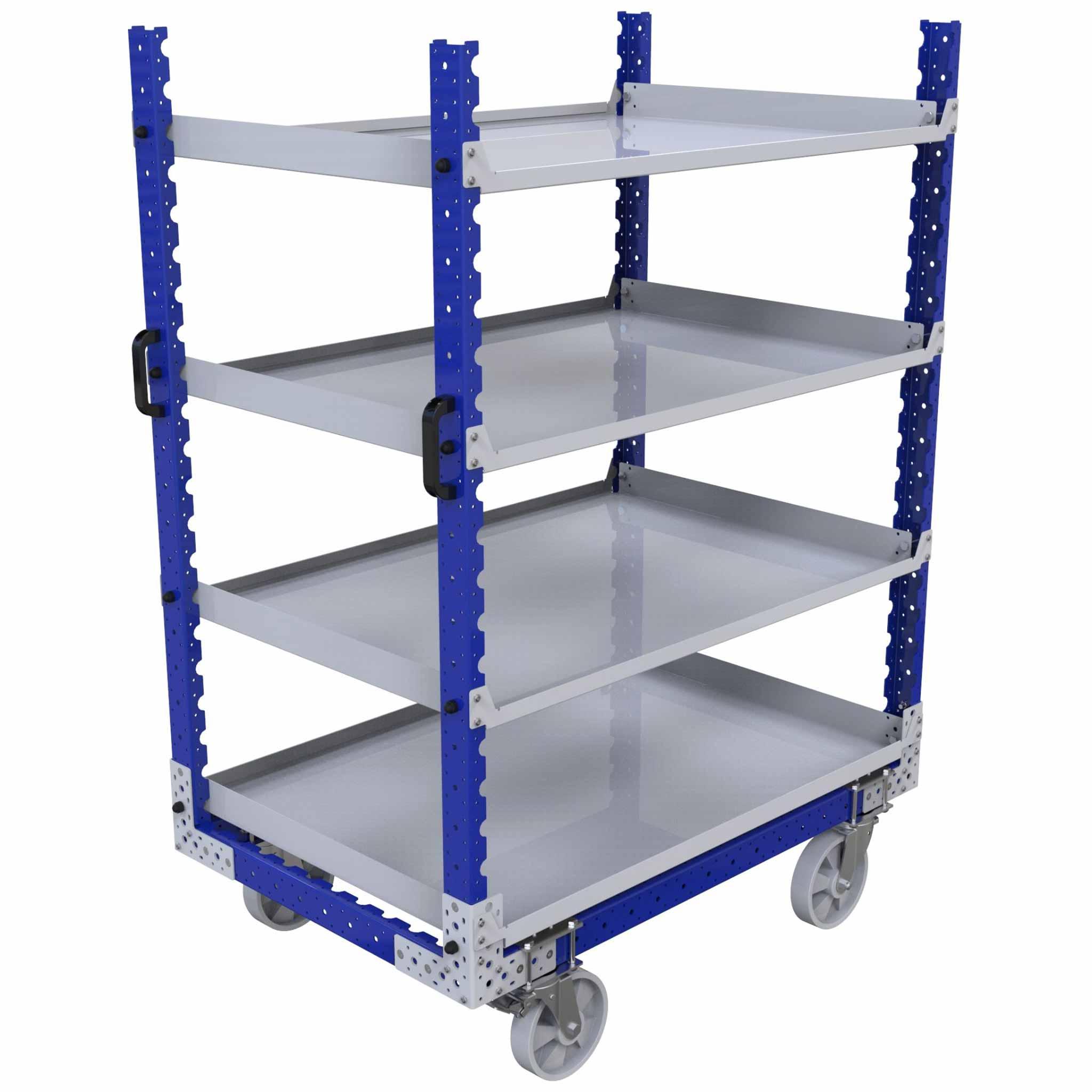 Flat Shelf Push Cart - 840 x 1260 mm