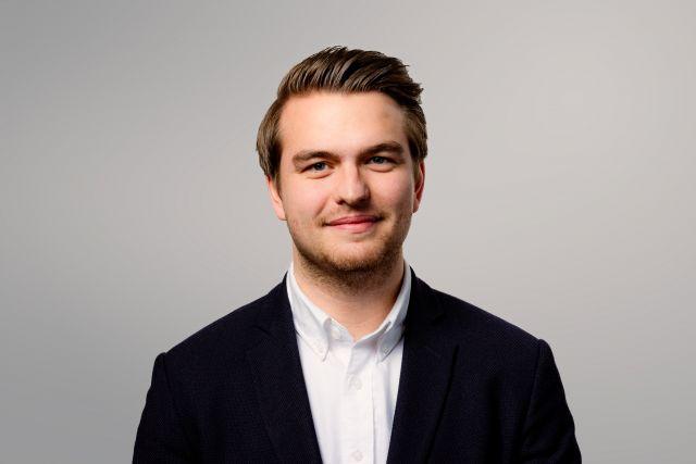 FlexQube purchasing manager Gustav Nilsson