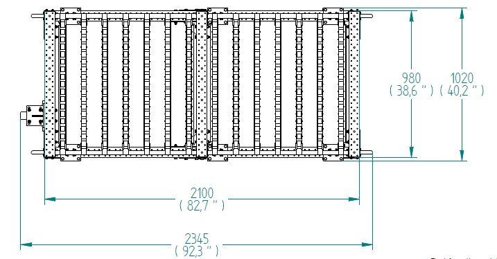 Flow roller cart - 980 x 2100 mm