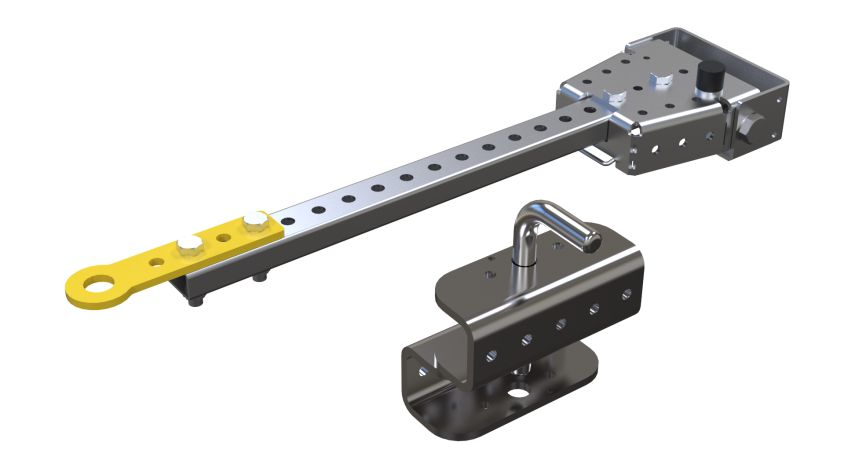 Tow Bar and Hitch Combination