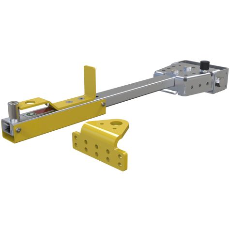 Foot release tow bar and hitch package