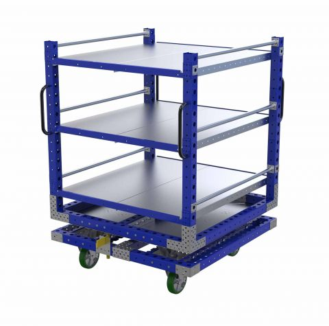 Rotating Shelf Cart - 1260 x 1260mm