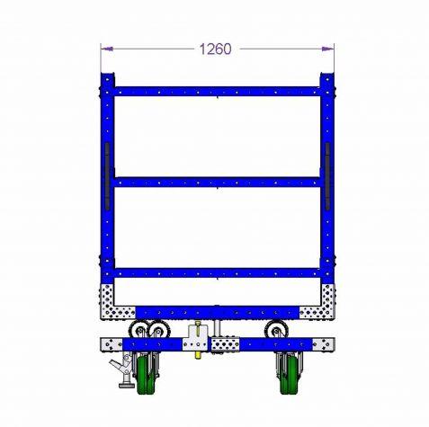 Rotating Shelf Cart - 1260 x 1260 mm