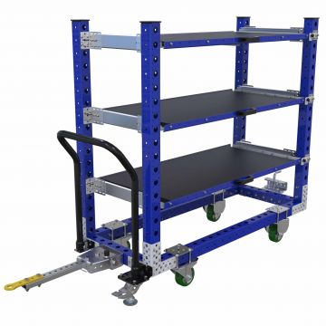 Extendable Shelf Tugger Cart - 630 x 1540 mm