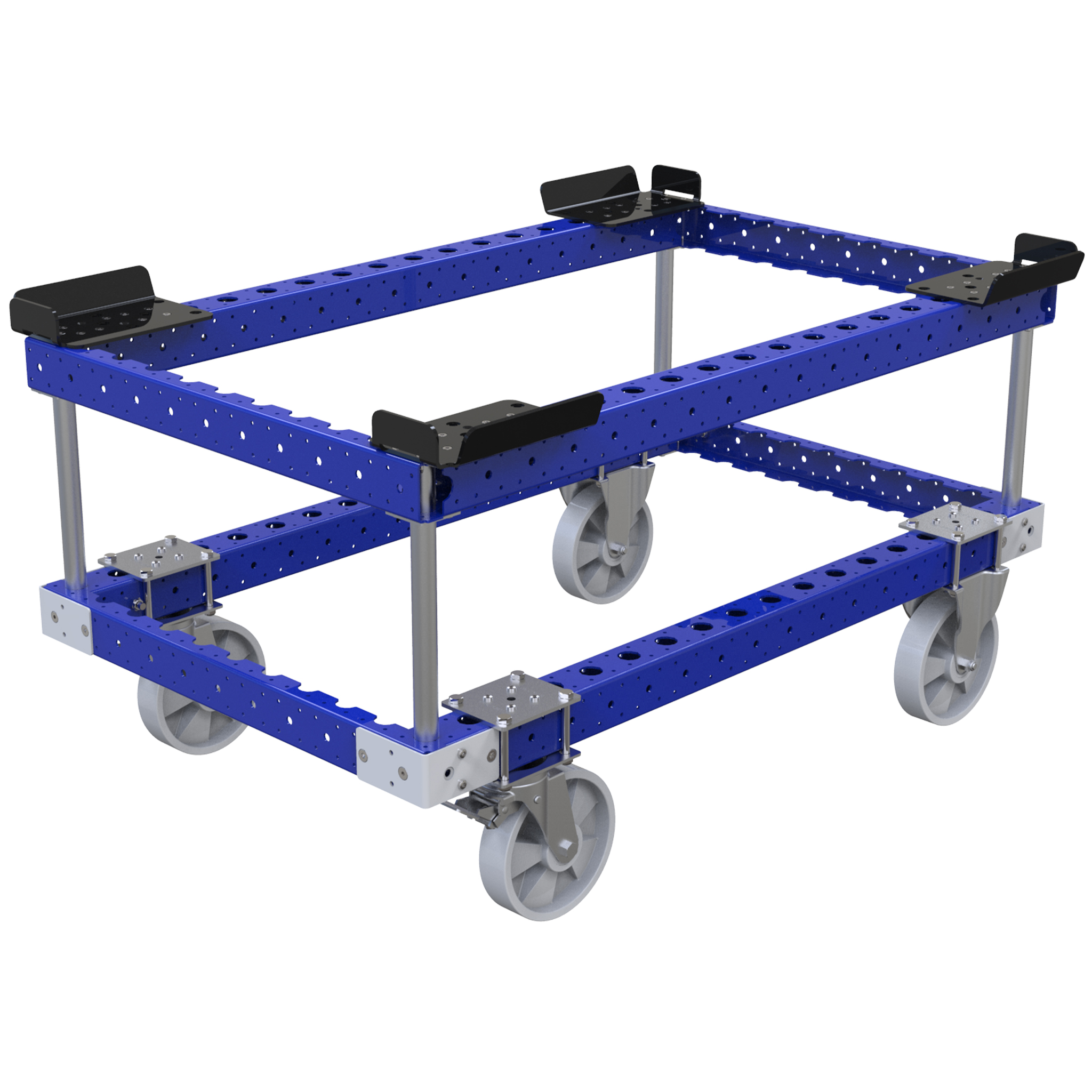 Pallet cart with sub-frame
