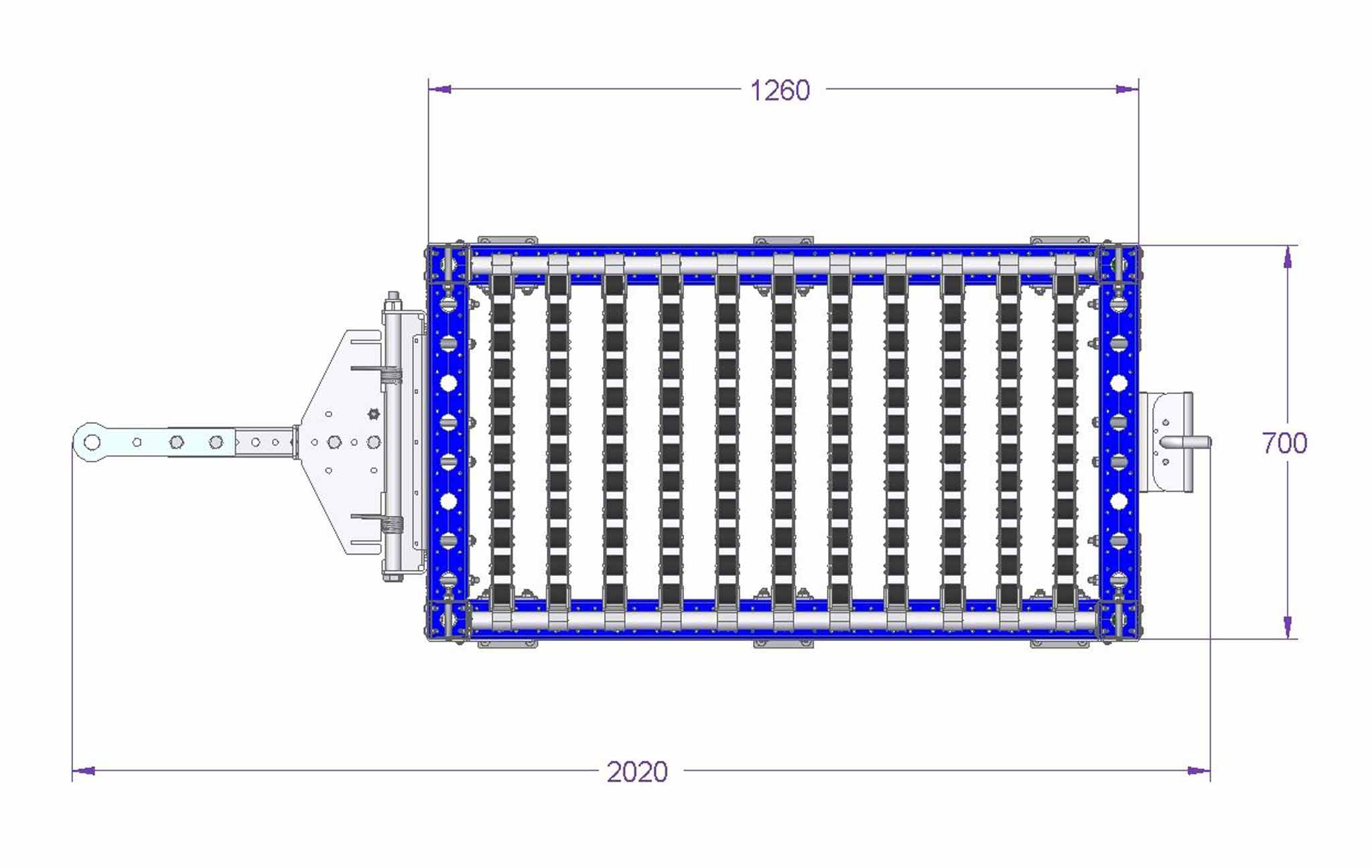 Flow Rack Tugger Cart - 700 x 1260 mm