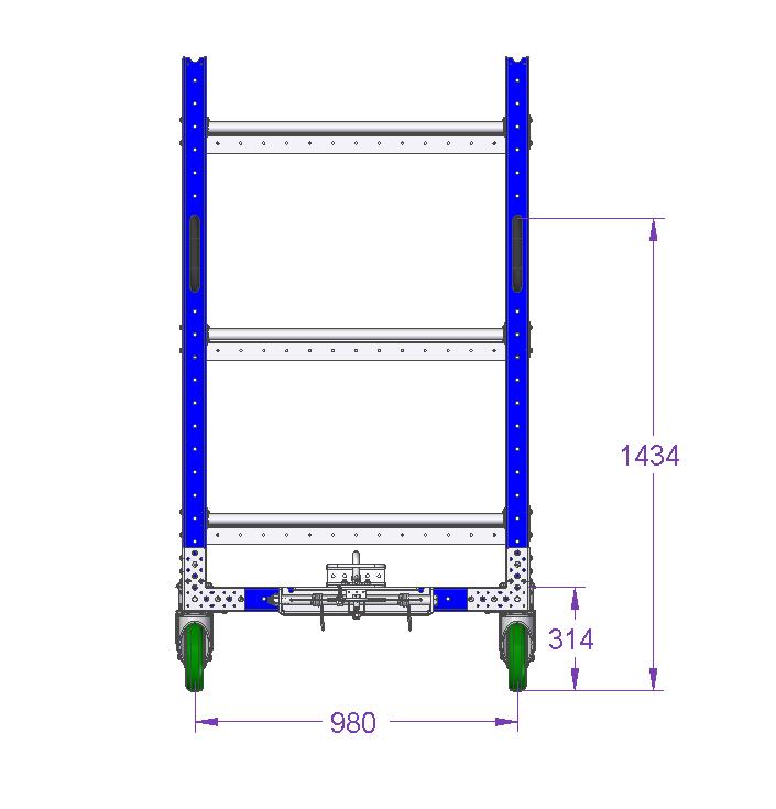 Shelf Cart – 55 x 41 Inches